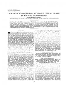 a primitive halobia (bivalvia: halobioidea) from the triassic of ... - BioOne