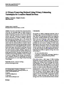 A Privacy Preserving Method Using Privacy ... - Semantic Scholar