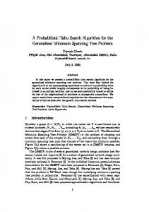 A Probabilistic Tabu Search Algorithm for the