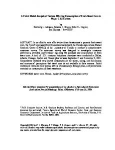 A Probit Model Analysis of Factors Affecting ... - AgEcon Search