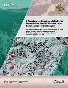 A Procedure for Mapping and Monitoring Mountain Pine ... - CiteSeerX
