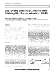 A Procedure for the Monitoring of Oxcarbazepine Metabolite by HPLC ...