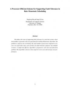 A Processor-Efficient Scheme for Supporting Fault-Tolerance in Rate ...
