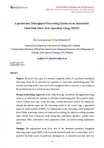 A production Throughput Forecasting System in an Automated Hard ...