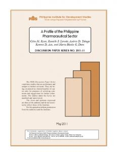 A Profile of the Philippine Pharmaceutical Sector - Philippine Institute ...