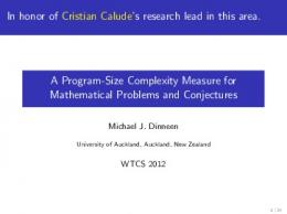 A Program-Size Complexity Measure for Mathematical Problems and ...