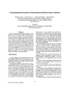 A Programming Environment for Heterogeneous Distributed Memory ...