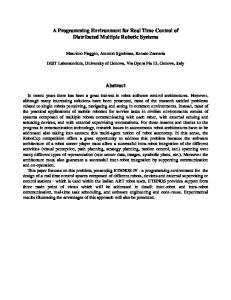 A Programming Environment for Real Time Control ... - Semantic Scholar