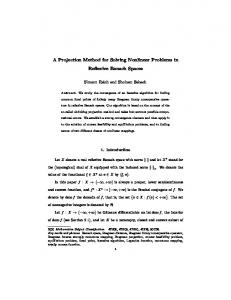 A Projection Method for Solving Nonlinear Problems in Reflexive ...