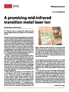 A promising mid-infrared transition metal laser ion - CiteSeerX