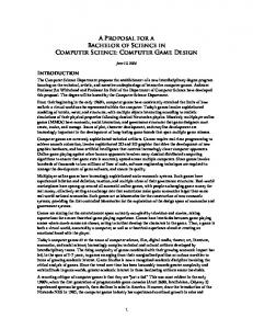 A Proposal for a Bachelor of Science in Computer Science ...