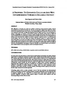 a proposal to enhance cellular and wifi ... - Aircc Digital Library