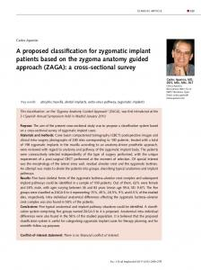 A proposed classification for zygomatic implant