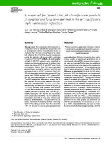 A proposed functional clinical classification ... - Semantic Scholar