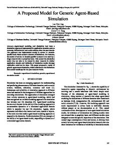 A Proposed Model for Generic Agent-Based Simulation - College of ...