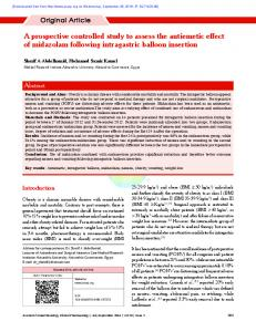 A prospective controlled study to assess the antiemetic effect of ...