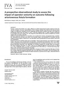 A prospective observational study to assess the ...