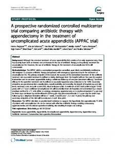 A prospective randomized controlled multicenter trial ... - BMC Surgery