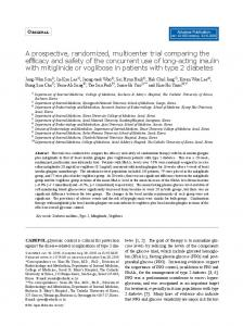 A prospective, randomized, multicenter trial comparing the ... - J-Stage