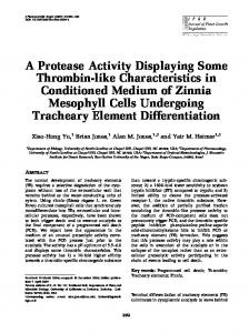 A Protease Activity Displaying Some Thrombin-like ... - Springer Link