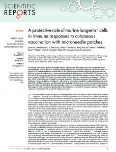 A protective role of murine langerin1 cells in immune ... - Nature