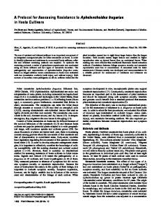 A Protocol for Assessing Resistance to ... - APS Journals