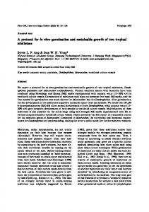 A protocol for in vitro germination and sustainable ... - Springer Link