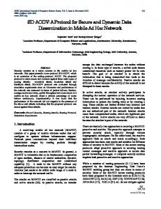 A Protocol for Secure and Dynamic Data Dissemination in ... - arXiv