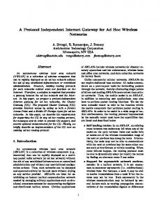 A Protocol Independent Internet Gateway for Ad ... - Semantic Scholar
