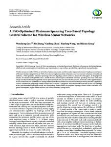 A PSO-Optimized Minimum Spanning Tree-Based Topology Control ...