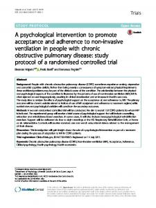 A psychological intervention to promote