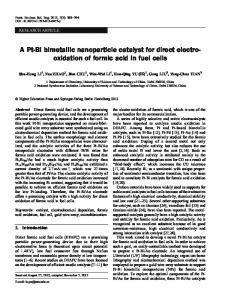 A Pt-Bi bimetallic nanoparticle catalyst for direct electro ... - Springer Link