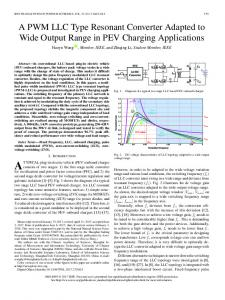 A PWM LLC Type Resonant Converter Adapted to Wide ... - IEEE Xplore
