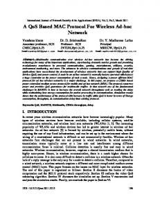 A QoS Based MAC Protocol For Wireless Ad-hoc Network