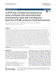 A qPCR and multiplex pyrosequencing assay combined with ...