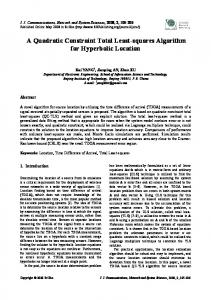 A Quadratic Constraint Total Least-squares Algorithm for Hyperbolic ...