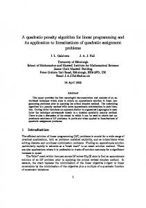 A quadratic penalty algorithm for linear programming and its