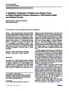 A Qualitative Exploration of Patient and Clinician ... - UCL Discovery