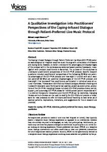 A Qualitative Investigation into Practitioners' Perspectives of the ...