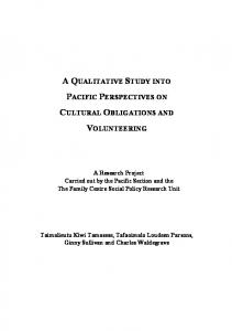 a qualitative study into pacific perspectives on ... - The Family Centre