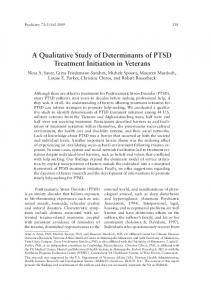 a Qualitative Study of Determinants of ptSD treatment Initiation in ...
