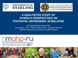 a qualitative study of women's perspectives on ...
