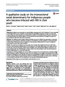 A qualitative study on the intersectional social determinants for ...