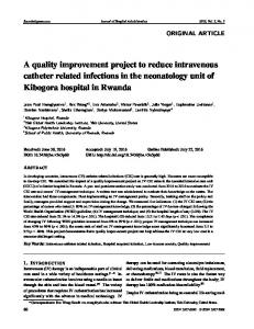 A quality improvement project to reduce intravenous ... - Sciedu Press