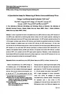 A Quantitative Assay for Measuring of Bovine ... - Springer Link