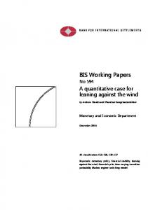 A quantitative case for leaning against the wind - Bank for International ...