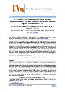 A Quantum Chemical and Chemometrical Study of ...