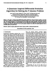 A Quantum-Inspired Differential Evolution Algorithm for Solving the ...