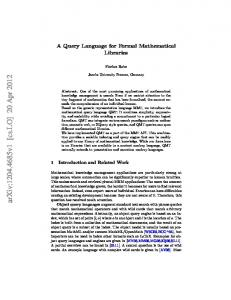 A Query Language for Formal Mathematical Libraries