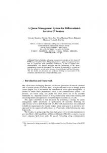 A Queue Management System for Differentiated- Services ... - CiteSeerX